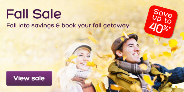 Up to 40% OFF Fall Sale  @ Hotels.com