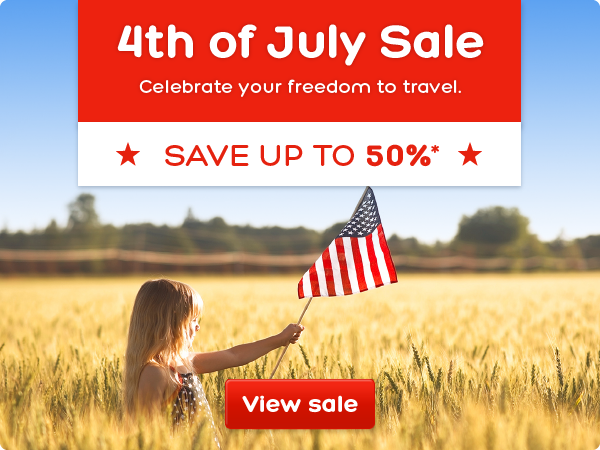 Save up to 50% off 4th of July sale at Hotels.com