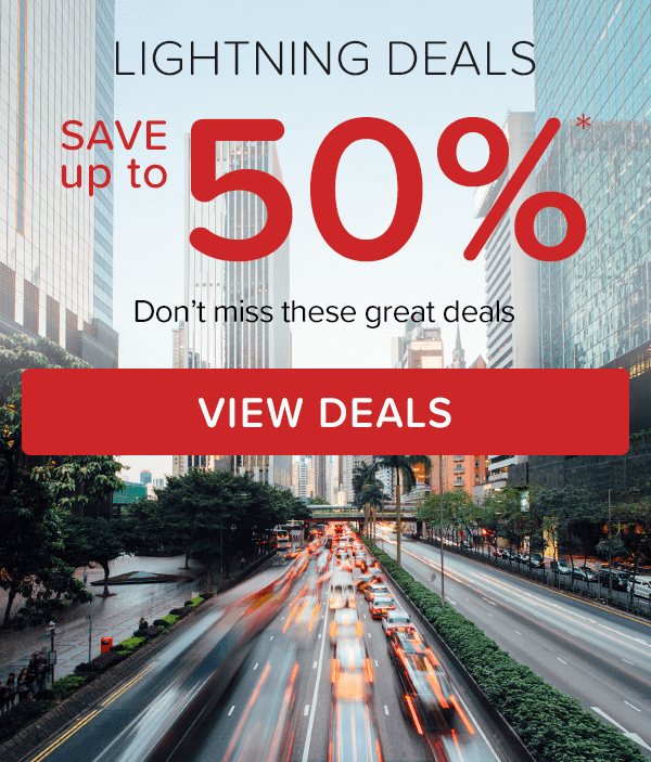 Lightning Deals - Save up to 50%*